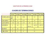 18.- ADJETIVOS DE LA PRIMERA CLASE.