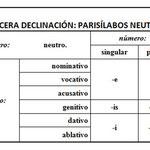 10.- 3ª DECLINACIÓN.PARISÍLABOS NEUTROS. TERMINACIONES.