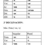 9.- 1ª Y 2ª DECLINACIÓN. TERMINACIONES.