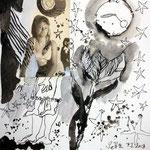 Blatt 18 Sterne am Himmel 25 x 25 cm - 2013  (c) Collage von Susanne Haun
