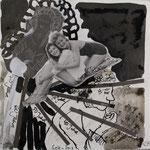 Blatt 19 Die Jahre 25 x 25 cm - 2013  (c) Collage von Susanne Haun