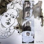 Blatt 2 Für immer jung 25 x 25 cm - 2013  (c) Collage von Susanne Haun