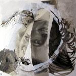 Blatt 6 ZerissenBlatt 5 25 x 25 cm - 2013  (c) Collage von Susanne Haun
