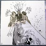 Blatt 22 Hahn im Korb   25 x 25 cm - 2013  (c) Collage von Susanne Haun