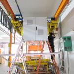 Konstruieren der Aufhängung eines 500 kg Schaltschranks