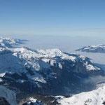 Aussicht nordwestliche Richtung mit Nebelmeer