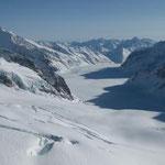 Ausblick auf den Aletschgletscher