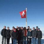 Gruppenfoto auf der Jungfraujoch