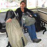 Nun gehts wieder mit Sack und Pack mit dem Bus von Brasilien nach Argentinien. Nach Puerto Iguazu.