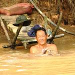 Der Mekong Fluss wird für alles genutzt.