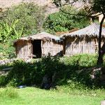 In diesen Hütten haben wir übernachtet