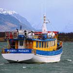 Fischerhafen am Última-Esperanza-Fjord in Puerto Natales
