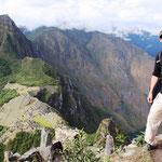 Blick vom Huayna Picchu auf Machu Picchu.