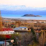 Aussicht von unserem Zimmer auf den Lago Argentino in El Calafate