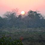 Sonnenuntergang in Sauraha