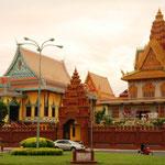 Viele schöne Paläste in Phnom Penh
