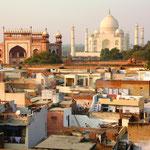 Ankunft in Agra