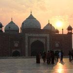 Beim Taj Mahal