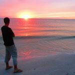 Sonnenuntergang bei Treasure Island