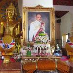 Der König von Thailand, sehr verheert