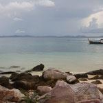 Ein ruhiger Strand auf der Nordseite von Ko Phi Phi - Das war schön