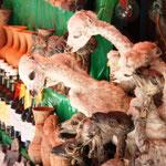 La Paz - Beim Hexenmarkt. Hier werden Lamaföten verkauft.