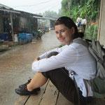 Kurze Pause wegen Monsunregen