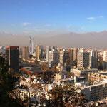 Sicht auf die Stadt vom Cerro Santa Lucia