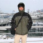 Am Hafen von Usuhaia, Wind und Schnee können einem das Leben hier sehr schwer machen