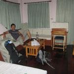 Erstes Zimmer, voll gemütlich aber leider wieder mal zu laut :-(