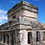 Als religiöses Zentrum war Tulum noch bei der Ankunft der Spanier bewohnt.