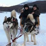 Unterwegs mit den Huskys