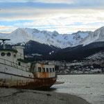 Ushuaia, am Ende der Welt. Bis zur Antarktis sind es nur noch ca. 1'500 km