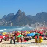 Praia Ipanema an einem Samstag!!!