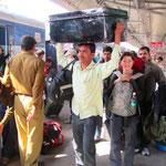 Immer und überall in Indien Hektik pur