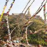 Sicht zur Stupa von Swayambhu