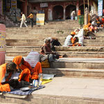 Die Armut in Varanasi ist sehr erdrückend.