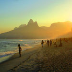 Sonnenuntergang am Ipanema Beach