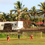 Fussballmatch bei Hanga Roa