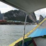 Weiter geht die Fahrt mit dem Longtailboot