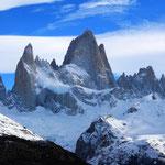 Und da ist er, der Cerro Fitz Roy, gigantisch!!!