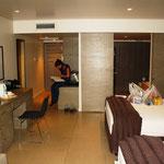 Unser Luxus-Zimmer in Nadi, nach Monaten im Camper kam es uns vor wie eine Turnhalle