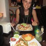 Franziska's mexikanisches Geburi-Essen. Wir hatten zugleich unseren letzten Abend auf unserer Weltreise. Bald sind wir wieder in der Schweiz!