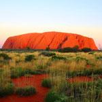 Schööööön, Uluru am Abend
