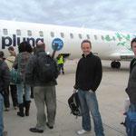 Auf nach Brasilien. Mit dem kleinen Flugzug gehts von Montevideo nach Rio de Janeiro