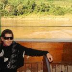 Von Huay Xai ging es zwei Tage auf dem Mekong zur alten Hauptstadt Luang Prabang