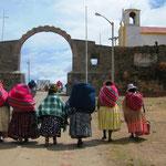 An der Grenze von Peru nach Bolivien