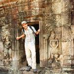 Angkor, jetzt überlaufen von Touris, waren es früher neben den Khmer die in Angkor lebten, auch Chinesen, Inder, Malayen und andere Fremde, meist Händler, mitunter auch Seefahrer, die sich hier niedergelassen hatten