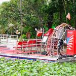 Ein typisches Airboot in den Everglades