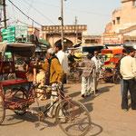 In den Strassen von Agra